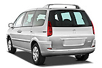 Rear three quarter view of a 2011 Peugeot 807 SV Executive Minivan Stock Photo
