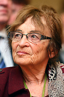 UNGARN, 03.2011, Budapest. Die Philosophin Ágnes Heller erhaelt zum Frauentag eine Auszeichnung der Sozialistischen Partei MSZP. | The philosopher Agnes Heller is honoured by the Socialist Party MSZP on women's day.<br />  @ Szilard Voros/estost.net