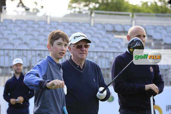 David Lingmerth team in action during Wednesday's Pro-Am of the 2016 Dubai Duty Free Irish Open hosted by Rory Foundation held at the K Club, Straffan, Co.Kildare, Ireland. 18th May 2016.<br />