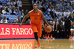 08 January 2014: Miami's James Kelly. The University of North Carolina Tar Heels played the University of Miami Hurricanes in an NCAA Division I Men's basketball game at the Dean E. Smith Center in Chapel Hill, North Carolina. Miami won the game 63-57.