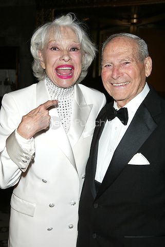 Carol Channing & her fourth husband and junior high school sweetheart Harry Kullijian at the arrivals for the American Theatre Wing Spring Gala at Cipriani on East 42 Street in New York, NY. June 4, 2007 © Joseph Marzullo / MediaPunch