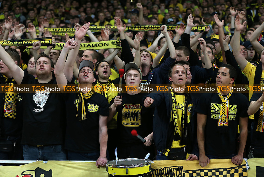 Borussia Dortmund fans - Arsenal vs Borussia Dortmund, UEFA Champions League Group F at the Emirates Stadium, Arsenal - 22/10/13 - MANDATORY CREDIT: Rob Newell/TGSPHOTO - Self billing applies where appropriate - 0845 094 6026 - contact@tgsphoto.co.uk - NO UNPAID USE
