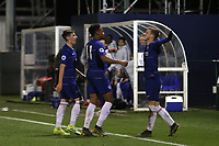 Charlie Brown celebrates scoring his second goal for Chelsea during Chelsea Under-19 vs AS Monaco Under-19, UEFA Youth League Football at the Cobham Training Ground on 19th February 2019