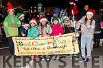 Pupils from Scoil Chaitlín Naofa, Cill Mhic a'Domhnaigh, enjoying Féile na Soilse in Dingle on Sunday evening.
