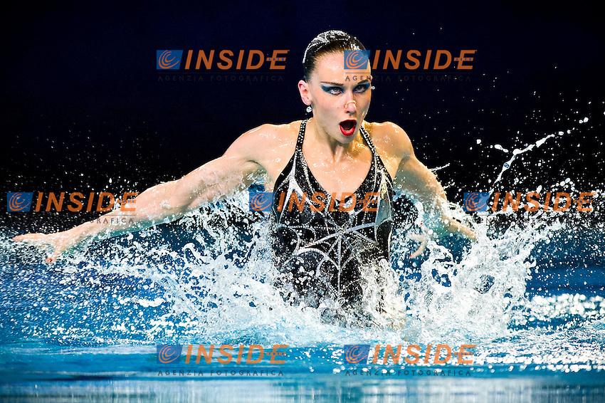 Natalia Ischenko (RUS) gold medal..European Synchronised Swimming Championships Eindhoven 2012..Solo Free Routine - Finals ..Eindhoven (Netherlands), 26/05/2012, Pieter Van Den Hoogenband Swimming Stadium..ph. Giorgio Perottino / Deepbluemedia