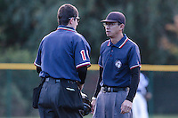 24 October 2010: Second base Paul Nguyen talks to Franck Lautier during Rouen 5-1 win over Savigny, during game 4 of the French championship finals, in Rouen, France.
