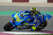 17th March 2018, Losail International Circuit, Lusail, Qatar; Qatar Motorcycle Grand Prix, Saturday qualifying; Andrea Iannone (Suzuki Ecstar)  during free practice