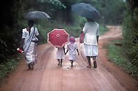 Walking home from school near Anuradhapura, Sri Lanka in 1996.
