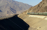 The Marco Polo Express westbound between Turfan and Urumqi.