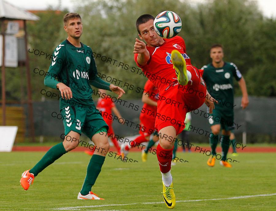 Fudbal season 2013-2014<br /> FK Crvena Zvezda pripreme<br /> Crvena Zvezda v Krka<br /> Djordje Despotovic (R)<br /> Novo Mesto, 07.12.2014.<br /> foto: Srdjan Stevanovic/Starsportphoto &copy;
