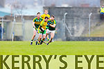 Killian Young Kerry in action against Martin McElhinney Donegal in Division One of the National Football League at Austin Stack Park Tralee on Sunday.