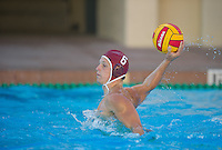 STANFORD, CA - October 9, 2010: Paul Rudolph during a water polo game against USC in Stanford, California. Stanford beat USC 5-3.