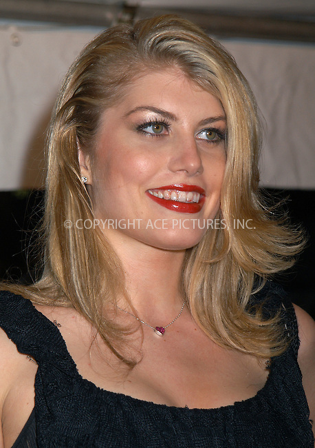 Meredith Ostrom arriving at the premiere of 'Love Actually' in New York. November 6, 2003. Please byline: AJ SOKLANER/NY Photo Press.   ..*PAY-PER-USE*      ....NY Photo Press:  ..phone (646) 267-6913;   ..e-mail: info@nyphotopress.com