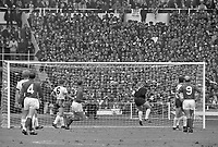 30.07.1966. Wembley Stadium, London England. 1966 World Cup final England versus Germany (4-2) After Extra time. Germany's keeper Hans Tilkowski makes the save
