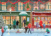 Addy, CHRISTMAS LANDSCAPE, paintings+++++,GBAD123130,#XL#