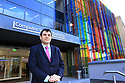 Head of the School of Electronics, Electrical Engineering and Computer Science, Dimitrios Nikolopoulos at the opening of the new £14m iconic and world class Computer Science hub at Queen's University Belfast. Photo/Paul McErlane