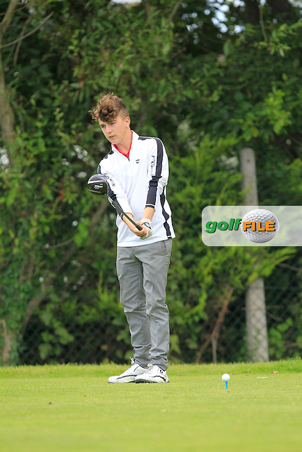 Eric Doran (Palmerstown Stud) on the 3rd tee during Round 4 of the Leinster Boys Amateur Open Championship at Balcarrick Golf Club on Thursday 30th July 2015.<br /> Picture:  Golffile | Thos Caffrey
