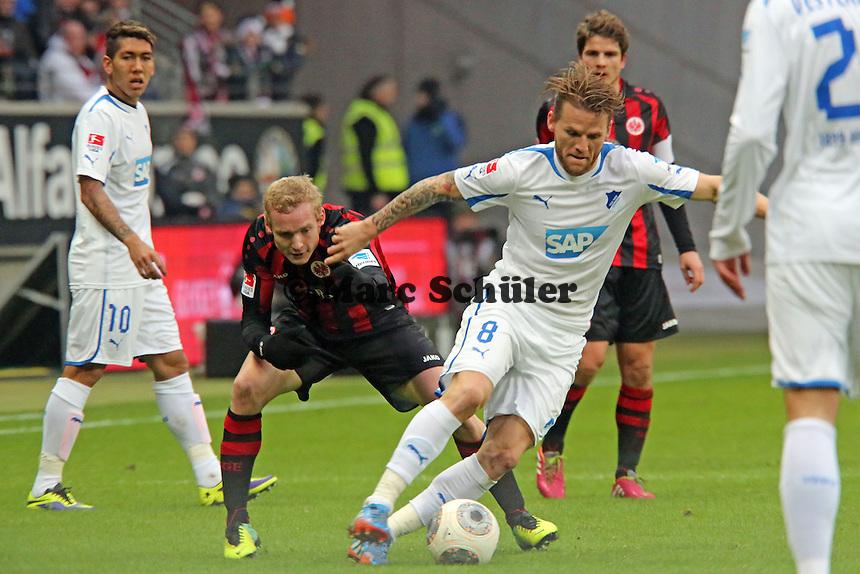 Sebastian Rode (Eintracht) gegen Eugen Polanski (Hoffenheim) - Eintracht Frankfurt vs. TSG 1899 Hoffenheim, Commerzbank Arena