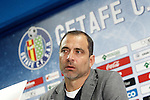 Getafe's new coach Juan Eduardo Esnaider during his official presentation. April 13, 2016. (ALTERPHOTOS/Acero)