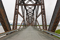 Million Dollar bridge (circa 1910) crossing the Copper River, southcentral, Alaska.