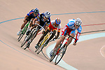 30 June 2007:   Junior Men (17-18yrs.) Keirin action at the 2007 USA Cycling Junior Track National Championships at the 7-Eleven Velodrome, Colorado Springs, Colorado.