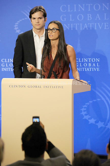 WWW.ACEPIXS.COM . . . . . .September 23, 2010...New York City... Ashton Kutcher and Demi Moore speak at the Clinton Global Initiative annual meeting in New York  on September 23, 2010 in New York City....Please byline: KRISTIN CALLAHAN - ACEPIXS.COM.. . . . . . ..Ace Pictures, Inc: ..tel: (212) 243 8787 or (646) 769 0430..e-mail: info@acepixs.com..web: http://www.acepixs.com .WWW.ACEPIXS.COM . . . . . .September 23, 2010...New York City... Ashton Kutcher and Demi Moore speak at the Clinton Global Initiative annual meeting in New York  on September 23, 2010 in New York City....Please byline: KRISTIN CALLAHAN - ACEPIXS.COM.. . . . . . ..Ace Pictures, Inc: ..tel: (212) 243 8787 or (646) 769 0430..e-mail: info@acepixs.com..web: http://www.acepixs.com .