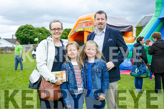 Enjoying the St. Brendan's College, Killarney Fayre Day on Sunday were Jane O'Shaughnessy, Lily  O'Shaughnessy, Ann  O'Shaughnessy and Peter  O'Shaughnessy