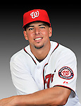 25 February 2011: Washington Nationals' first baseman Chris Marrero poses for his Photo Day portrait at Space Coast Stadium in Viera, Florida. Mandatory Credit: Ed Wolfstein Photo