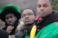 Vigile contre Boko Haram a Montreal, le 18 janvier 2015.<br /> <br /> PHOTO : Pierre Roussel - Agence Quebec Presse