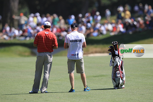 Padraig Harrington (IRL) waits to play his 2nd shot on the 9th hole during Saturday's  Round 3 of the 112th US Open Championship at The Olympic Club, San Francisco,  California, 16th June 2012 (Photo Eoin Clarke/www.golffile.ie)