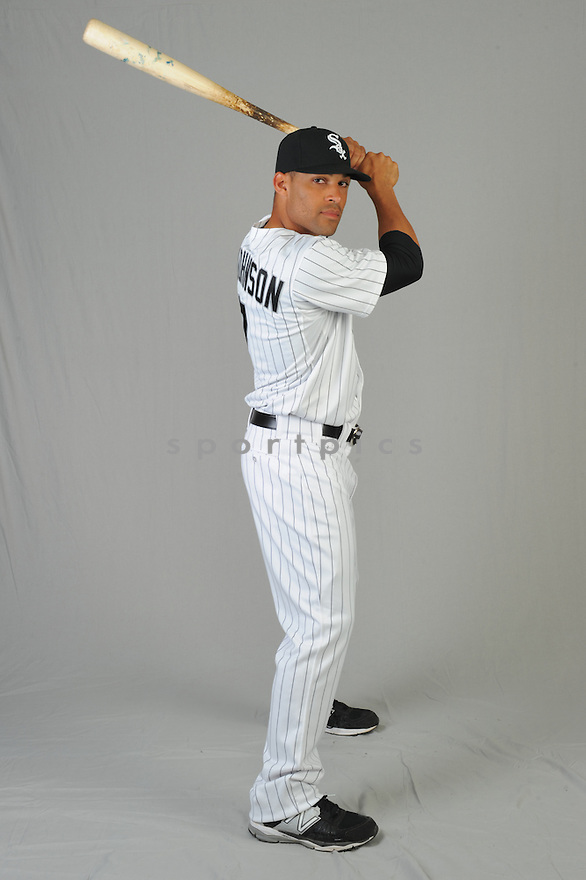 Chicago White Sox Micah Johnson (7) during photo day on February 28, 2015 in Glendale, AZ.