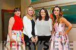 l-r Sheila O'Sullivan, Helena Walsh, Audrey Galvin and Tasha O'Connor. at Fashion Soirée Ladies Day Fashion and Autumn Winter 2015 Collection In aid of Kerry Cancer Support Group at Manor West Hotel on Friday