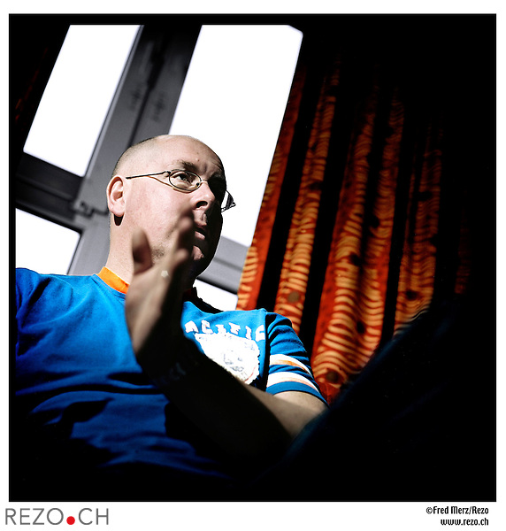 FM03166 / Nick Leeson, ex-trader qui a fait couler la Barings Bank en 1995 par ses speculations hasardeuses...Galway, Irlande, Mars 2005..©Fred Merz/Rezo....