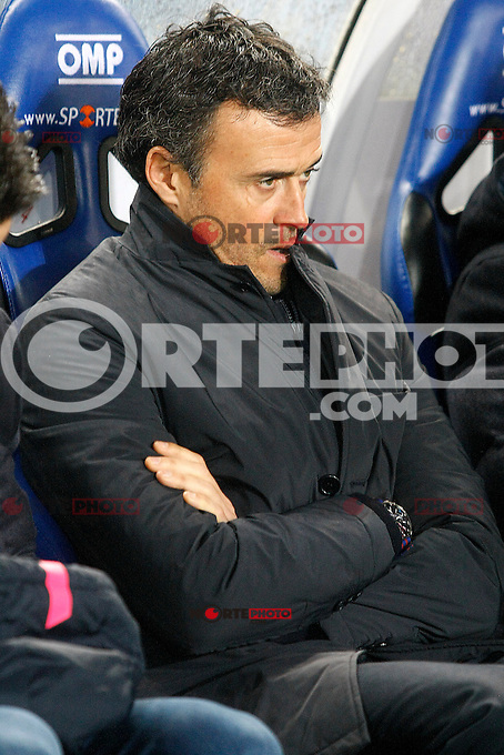 FC Barcelona's coach Luis Enrique Martinez during La Liga match.January 4,2015. (ALTERPHOTOS/Acero) /NortePhoto /NortePhoto.com