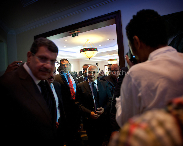 Ahmed Shafiq in Marriot hotel, New Cairo, for a press conference..3rd of june 2012. .Copyright:Magali Corouge/Documentography....