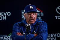 Dave Roberts , manager de los Dodgers de LA en rueda de prensa, previo al partido de los Dodgers de Los Angeles contra Padres de San Diego, durante el primer juego de la serie las Ligas Mayores del Beisbol en Monterrey, Mexico el 4 de Mayo 2018....<br /> (Photo: /Luis Gutierrez)