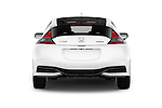 Straight rear view of 2016 Honda CRZ EX 3 Door Hatchback Rear View  stock images