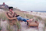 Long Island, New York - October 2, 1988. French designer and architect Philippe Starck at his home in the Hamptons.