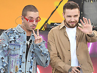 NEW YORK, NY - MAY 15:  Liam Payne and J Balvin perform on Good Morning America 2018 Summer Concert Series in Central Park on May 15, 2018 in New York City.  <br /> CAP/MPI/PAL<br /> &copy;PAL/MPI/Capital Pictures