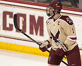Chris Calnan (BC - 11) - The Boston College Eagles defeated the University of Notre Dame Fighting Irish 6-4 (EN) on Saturday, January 28, 2017, at Kelley Rink in Conte Forum in Chestnut Hill, Massachusetts.The Boston College Eagles defeated the University of Notre Dame Fighting Irish 6-4 (EN) on Saturday, January 28, 2017, at Kelley Rink in Conte Forum in Chestnut Hill, Massachusetts.