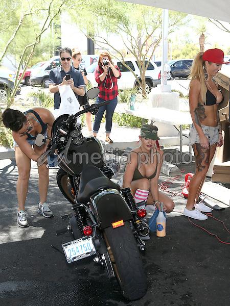 13 August 2016 - Las Vegas, Nevada - Girls of Crazy Horse III. Crazy Horse III Gentleman's Club and Harley-Davidson Motorcycles host Bikini Bike Wash to benefit the Douglas J. Green memorial Foundation at Las Vegas Harley-Davidson Motorcycles. Photo Credit: MJT/AdMedia