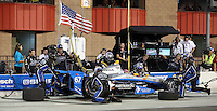 10/19/13 Fontana, CA: Josef Newgarden n the pits during the MAVTV 500 held at the Auto Club Speedway.