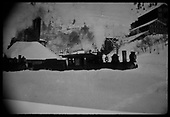 RGS #10 and #12 in deep snow at Pandora.<br /> RGS  Telluride, CO  1916