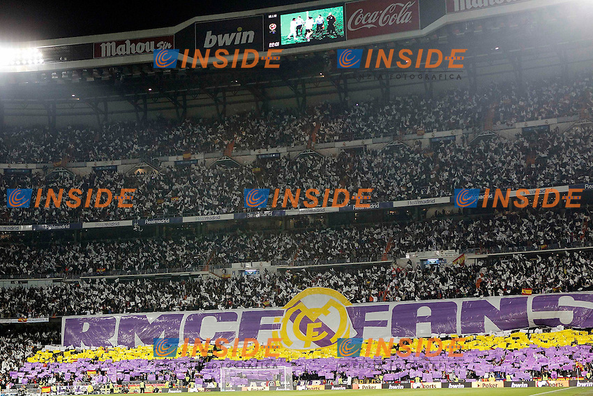 Real Madrid's fans with banner during King's Cup Match. January 18, 2012. (Insidefoto / Alvaro Hernandez / Alterphotos) .Real Madrid Vs Barcellona.ITALY ONLY