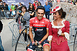 Alberto Contador (ESP) Trek-Segafredo all smiles before the start of Stage 17 of the 2017 La Vuelta, running 180.5km from Villadiego to Los Machucos. Monumento Vaca Pasiega, Spain. 6th September 2017.<br /> Picture: Unipublic/&copy;photogomezsport | Cyclefile<br /> <br /> <br /> All photos usage must carry mandatory copyright credit (&copy; Cyclefile | Unipublic/&copy;photogomezsport)