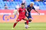 Komail Hasan Alaswad of Bahrain (L) competes for the ball with Chanathip Songkrasin of Thailand during the AFC Asian Cup UAE 2019 Group A match between Bahrain (BHR) and Thailand (THA) at Al Maktoum Stadium on 10 January 2019 in Dubai, United Arab Emirates. Photo by Marcio Rodrigo Machado / Power Sport Images