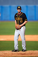 Bethune-Cookman Wildcats starting pitcher Alex Seibold (40) gets ready to deliver a pitch during a game against the Wisconsin-Milwaukee Panthers on February 26, 2016 at Chain of Lakes Stadium in Winter Haven, Florida.  Wisconsin-Milwaukee defeated Bethune-Cookman 11-0.  (Mike Janes/Four Seam Images)
