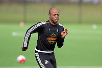 Andre Ayew during the Swansea City FC training at Fairwood training ground in Wales, UK on Wednesday 06 April 2016