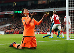 Liverpool's Roberto Firmino looks on after a missed chance during the premier league match at the Emirates Stadium, London. Picture date 22nd December 2017. Picture credit should read: David Klein/Sportimage