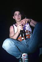 Beastie Boys perform at The Aragon Ballroom in Chicago, Illinois.<br /> March 13,1987<br /> CAP/MPI/GA<br /> &copy;GA/MPI/Capital Pictures
